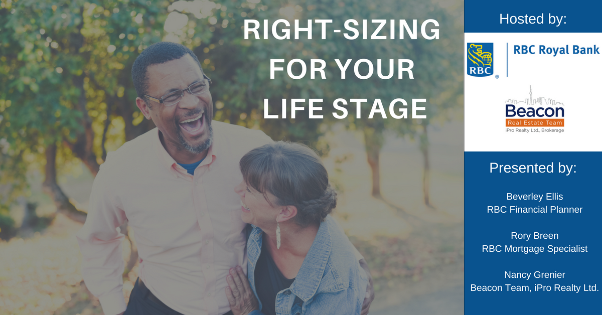 Information Session: Right Sizing for Your Life Stage (May 30th)